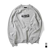 [로얄라이프] ROYALLIFE RLCN108 크럼플 박스 로고 기모 맨투맨 - 2종 크루넥 스��셔츠