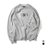 [로얄라이프] ROYALLIFE RLCN112 RYLF 박스 로고 기모 맨투맨 - 2종 크루넥 스��셔츠