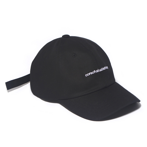 [벗딥]BUTDEEP - CORE CURVED CAP-BLACK