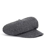 와일드브릭스 - WOOL NEWSBOY CAP (grey) 울혼방 뉴스보이캡