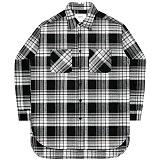 [언더에어] UNDERAIR Legendary Revolution Shirts - GrayBlack 긴팔 체크셔츠 남방