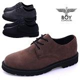 [보이런던] 남성 데일리 빈티지 레더 슈즈(블랙.브라운.그레이) 877-레오 남자 신발 단화 웰트화 구두 마틴