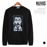 뉴비스 - 콧수염 기모 맨투맨 티셔츠 (NB220MT)