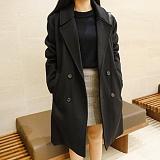[에이비로드]프리미엄 오버 더블 코트 (black)