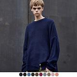 [어커버]ACOVER - VENT LONG CREWNECK SWEATER 오버핏 스웨터 니트티 니트