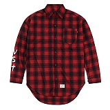 STIGMA - VST OVERSIZED WOOL CHECK SHIRTS RED 긴팔남방 워크셔츠