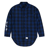 STIGMA - VST OVERSIZED WOOL CHECK SHIRTS BLUE 긴팔남방 워크셔츠