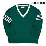 [깅엄버스]GINGHAMBUS - Classic Overfit Tennis Sweater[몬스타엑스 민혁/GOT7/딘(DEAN) 착용] 오버핏 스웨터 니트티 니트