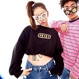 [깅엄버스]GINGHAMBUS - GBB Crop Sweatshirt(3color) 크롭탑 크롭 맨투맨 스��셔츠