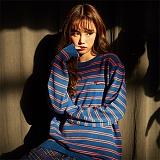 [깅엄버스]GINGHAMBUS - Retro Ribbon Stripe Sweater (4color)(unisex) 레트로 스트라이프 스웨터 니트티 니트