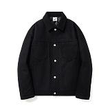 파르티멘토 - Wool Trucker Jacket Black 울 트러커자켓
