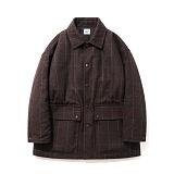 파르티멘토 - Check Short Coat Brown 숏코트 체크