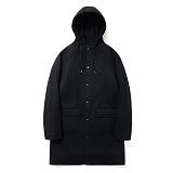 파르티멘토 - Wool Hooded Coat Black 후드 울코트