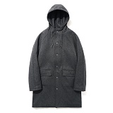 파르티멘토 - Wool Hooded Coat Dipgray 후드 울코트