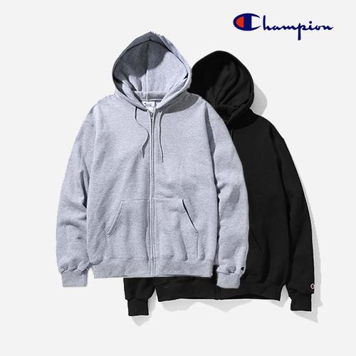 [챔피온]CHAMPION S800 9oz 50/50 ECO-SMART Zip-Up Pullover Hood (2 COLORS) 무지 후드집업 후디