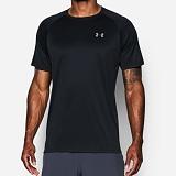 언더아머 기능성 로고 반팔 티셔츠 129395_001 블랙 남녀공용 UnderArmour 정품 국내배송