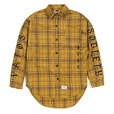 STIGMA - BLACK PANTHER OVERSIZED WOOL CHECK SHIRTS MUSTARD 긴팔남방 워크셔츠