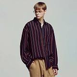 [언더에어] UNDERAIR London Stripe Shirts - Red 긴팔 스트라이프셔츠 남방