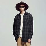 [언더에어] UNDERAIR Black Eye Shirts - Black 긴팔 체크셔츠 남방
