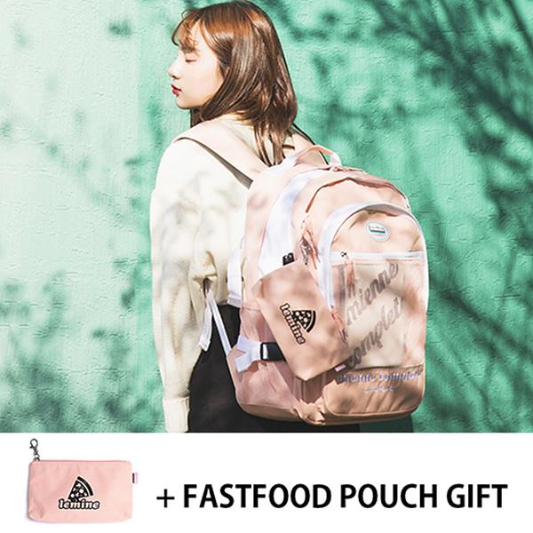 [르마인]LE MINE - LE27FPK 모닝세트 핑크 백팩 가방