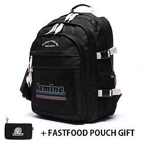 [르마인]LE MINE - LE28FBK 런치세트 블랙 백팩 가방