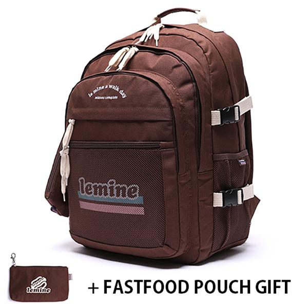 [르마인]LE MINE - LE28FBR 런치세트 브라운 백팩 가방