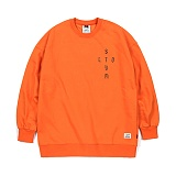 STIGMA - VATOS OVERSIZED HEAVY SWEAT CREWNECK ORANGE_맨투맨_크루넥_기모