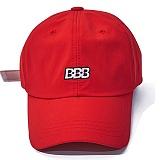 [비에스래빗] BBB NYLON STRAPBACK_RED 스트랩 레터링 자수 볼캡 야구모자