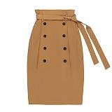 [참스]CHARMS Classic button skirt BE 클래식 버튼 스커트 치마