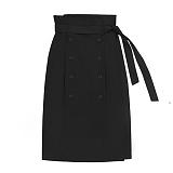 [참스]CHARMS Classic button skirt GY 클래식 버튼 스커트 치마