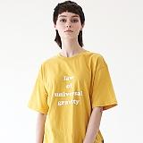 [에이피오13] 그래비티 루즈핏 반팔 티셔츠 APOTS003-YL