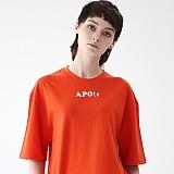 [에이피오13]  스페이스 타임 오버핏 반팔 티셔츠 APOTS006-OR
