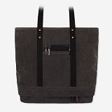[모노노]MONONO - 2 Box 2 Way Bag - Wax Canvas Charcoal 왁스 캔버스 토트백