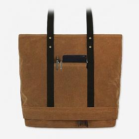 [모노노]MONONO - 2 Box 2 Way Bag - Wax Canvas Camel 왁스 캔버스 토트백