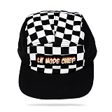 [라모드치프]LAMODECHIEF - LA.C-FLAME CAMP CAP(black check) 체크 캠프캡