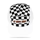 [라모드치프]LAMODECHIEF - LA.C-FLAME CAMP CAP(white check) 체크 캠프캡