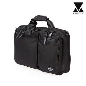 [마카벨릭]MAKAVELIC - 3WAY BRIEF CASE (BLACK) 브리프케이스 서류가방 토트백 크로스백 백팩 배낭 가방