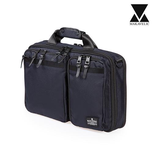 [마카벨릭]MAKAVELIC - 3WAY BRIEF CASE (DARK NAVY) 브리프케이스 서류가방 토트백 크로스백 백팩 배낭 가방