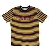 [라모드치프]LAMODECHIEF - LA.C STRIPE ICEPINK TEE(yellow) 스트라이프 반팔티
