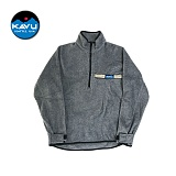 KAVU - 플리스 쏘로우(Fleece Throwshirt) 하프집업셔츠 차콜 후리스