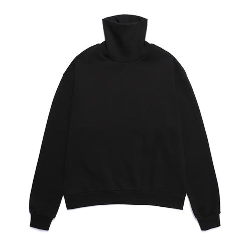 밴웍스 하이넥 폴라 기모 스웨트셔츠 블랙 (VNAGTS320)