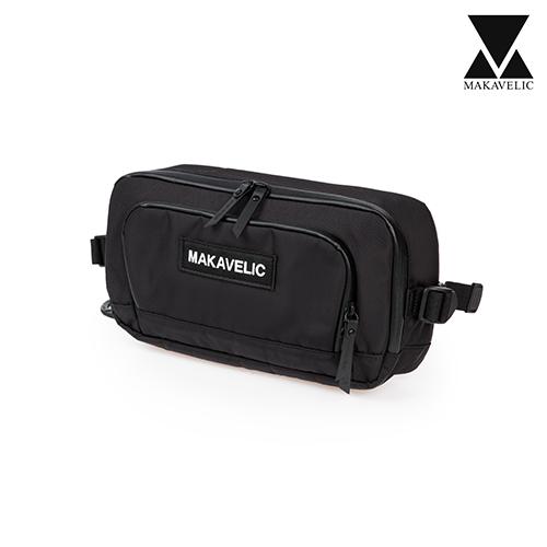 [마카벨릭]MAKAVELIC - DA MOVE WAISTBAG (BLACK) 웨이스트백 힙색 가방