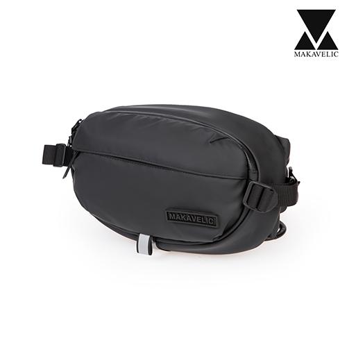 [마카벨릭]MAKAVELIC - ELIPTICAL WAISTBAG (BLACK) 웨이스트백 힙색 리플렉티브 스카치 가방