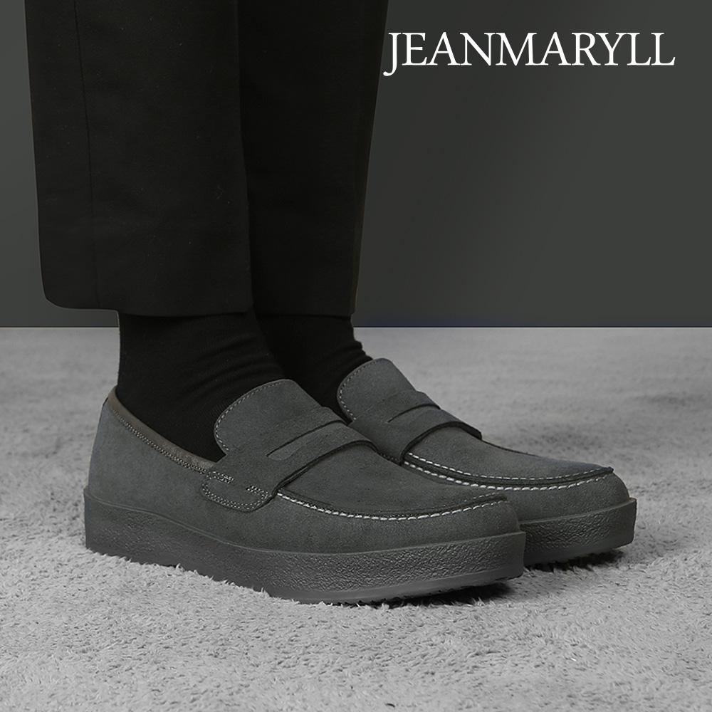 [장마릴]신발/구두/천연소가죽/남성캐주얼/컴포트화 JM010 그레이