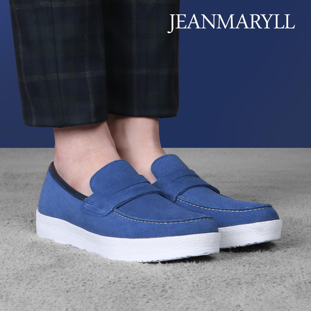 [장마릴]신발/구두/천연소가죽/남성캐주얼/컴포트화 JM010 블루