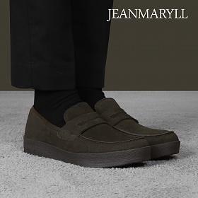 [장마릴]신발/구두/천연소가죽/남성캐주얼/컴포트화 JM010 카키브라운