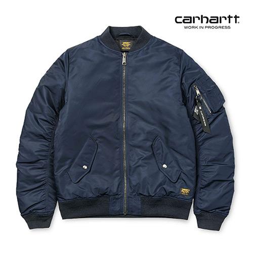 [칼하트WIP] CARHARTT WIP - ASHTON BOMBER JACKET (Dark Navy) 애쉬튼 붐버자켓 항공자켓 자켓