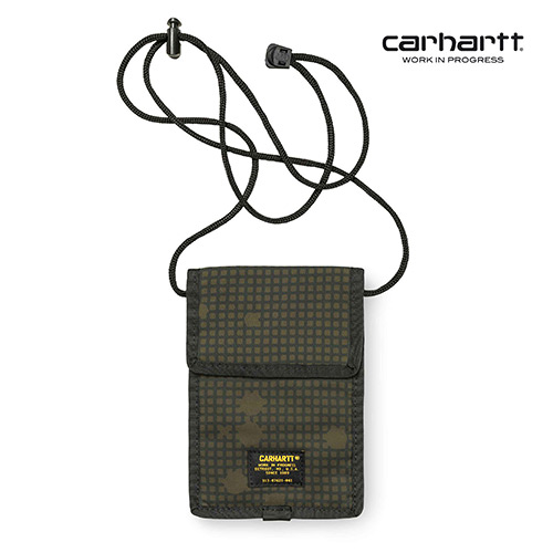 [칼하트WIP] CARHARTT WIP - Military Neck Pouch (Camo Night Combat Green) 밀리터리 넥 파우치 사코슈
