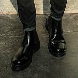 [비에스큐티바이클래시]BSQT by Classy - 191 베이직 레더 키높이 첼시 부츠(LUCY BLACK)
