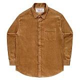 [언더에어] UNDERAIR 8w Corduroy Shirts - Brown 코듀로이 셔츠 남방